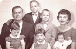 The Cordes family around 1963